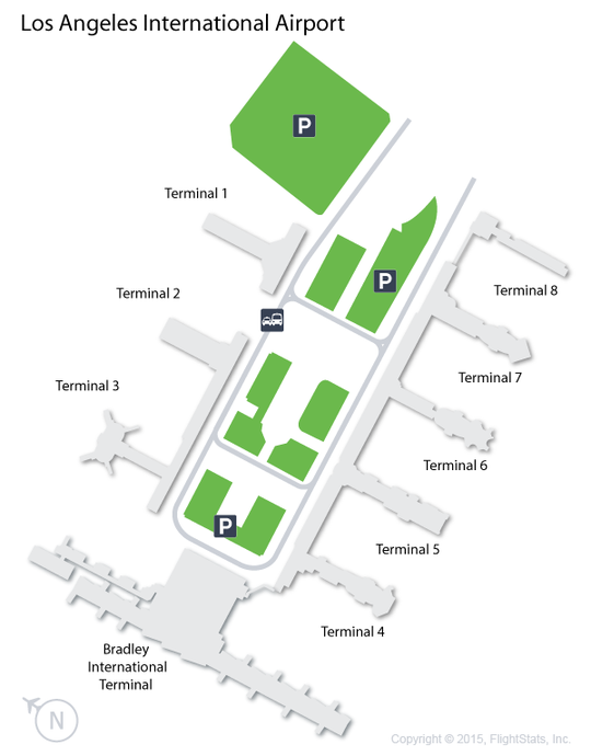 LAX Los Angeles International Airport Terminal Map